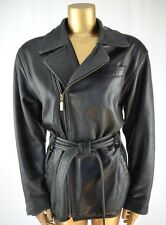 Fabulous Lamb Leather Vintage 80's Jacket Perfectly Broken In S/M Belted Moto