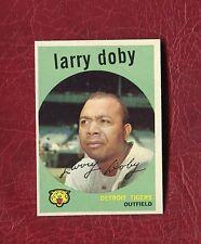 1959 TOPPS #455 LARRY DOBY (HOF) CLEVELAND INDIANS SET BREAK NMT+ / NMMT