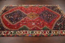 Excellent Geometric Tribal Abadeh Area Rug Hand-Knotted South-west Oriental 6x9