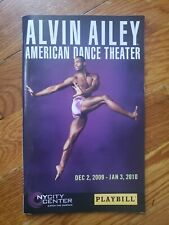 Playbill ALVIN AILEY AMERICAN DANCE THEATRE NYCity Center Dec 2009 - Jan 2010