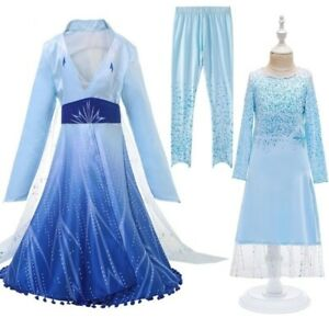 2020 New Princess Dress For Girls Clothing Cosplay Birthday Party Pants Coat