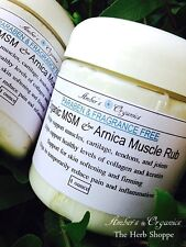 Organic OptiMSM & Arnica Muscle Rub, Supports Collagen For Healthy Skin.