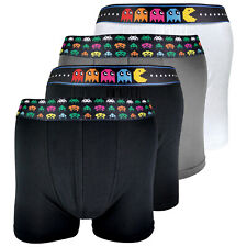 SOCK SNOB - 4 Pack 100% Cotton Mens Soft Funky Vintage Retro Gaming Boxers