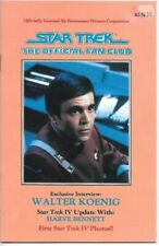Star Trek The Official Fan Club Magazine #49 Walter Koenig Cover 1986
