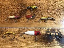 Vintage Collection Fishing Lures Plugs Lot of 7 Millsite, Heddon, Hopper Stopper