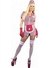 Charades Costume Candy Stripe Nurse 01780 Red/White Medium