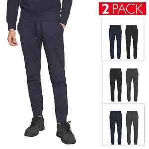 2 Pack Pantalone Tuta Uomo Felpata Invernale Sportivo Fitness Palestra VEQUE