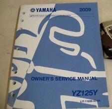 2009 YAMAHA YZ125Y MOTORCYCLE OWNER'S SERVICE REPAIR SHOP MANUAL