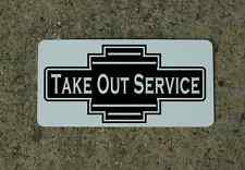 TAKE OUT SERVICE Metal Sign 40's 50s Retro Vintage Style Art Deco Decor Design