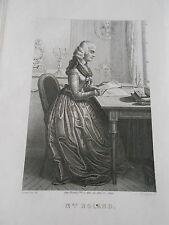 Gravure 19ème - Portrait de Mme Roland