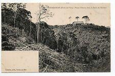 MADAGASCAR colonie française Le poste d'Omory dans la foret de l'Iantara est
