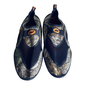 RealTree Green Camo Water Shoes Slip On Mesh Size 13 Mens Sneaker Aqua Socks