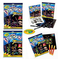 Crayola Kids Colour Explosion Extreme Black Mess Free Colouring Book Design Set