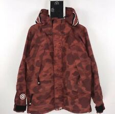 Preowned Bape RED winter Jacket Coat SIZE M - Bathing Ape AUTHENTIC REALRED Good