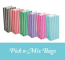 Pick & Mix PARTY LOOT BAGS Birthday Gift Treat Sweet Candy Striped paper Bag