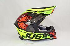 NEW Just 1 Carbon Fiber J12 Dominator MX Motocross Helmet Neon Lime Size LARGE