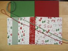 Stampin Up BE MERRY Paper Card Kit CHRISTMAS Ribbon Stockings Trees Mittens RARE