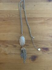 Kendra Scott Rayne Mother Of Pearl Tassel Long Necklace Rose Gold