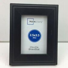 "Mainstays Rectangular Mini Photo Frame Black 2.5"" X 3.5"""