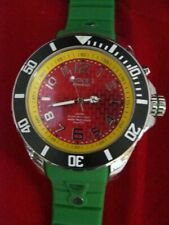 NWT KYBOE! CHRONOGRAPH STAINLESS STEEL GREEN SILICONE STRAP WATCH 55MM
