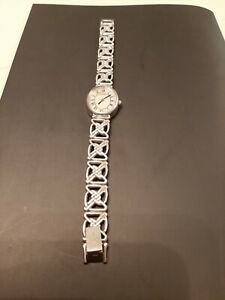 Rotary Watch 925 Silver Sterling Pearl Dial Classic Celtic Knot Pattern Strap