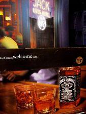"2002 Jack Daniel's Neon Welcome Sign Original Print Ad 8.5 x 10.5"""