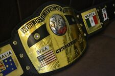 NWA Domed Globe Worlds Heavyweight Wrestling championship belt Replica 2mm