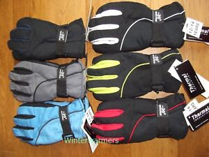 KIDS SKI GLOVES BOYS GIRLS WINTER WATERPROOF THERMAL SKI SNOW GLOVES WARM MITTS