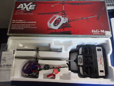 Heli-Max AXE CX Micro R/C Helicopter 72.870 RC new + box no charger cord Purple