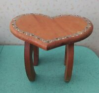 Small Child Size Heart Shaped Stool Handmade And Painted