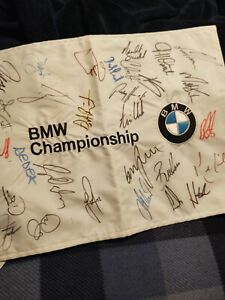 Signed autographed BMW Pin Flag Champ Rory McIlroy, Watson, Fowler