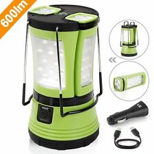 LE 600lm Rechargeable Camp Lantern Ipx4 With 2 Detachable Mini Handy Flashlight