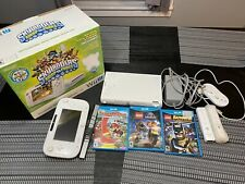 Nintendo Wii U 8GB White- Console WUP-001(02) w/ 3 Games and 4 Controllers