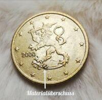 50 Cent Euro Münze (FEHLPRÄGUNG❕) Finnland 2000