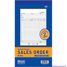 SALES ORDER Record BOOK 2 Part 50 Sets Numbered Original Duplicate w/Carbon #504