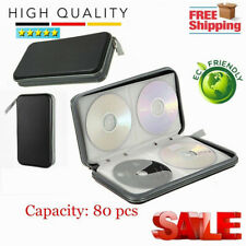 Portable 80x Disc CD DJ Storage Case Wallet Zipper Hard Media DVD Bag