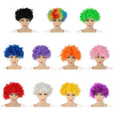 Football Fans Clown Cosplay  Colorful Wigs  Curly Hair Children/Adults Dressing
