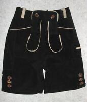 knapp knielange Damen- Trachten-  LEDERHOSE / Trachtenhose in schwarz ca. Gr. 36