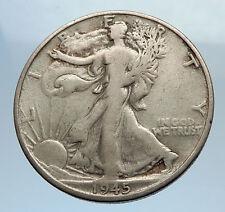 1945 UNITED STATES US Silver WALKING LIBERTY Half Dollar Coin BALD EAGLE i71601