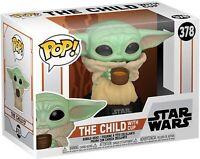 MANDALORIAN - CHILD WITH CUP - STAR WARS - FUNKO POP - 49933 *DAMAGED BOX*