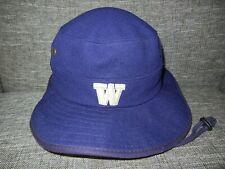WASHINGTON HUSKIES UW Football Purple COLLEGE BUCKET HAT Wide Brim Cap Sz S/M