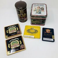 Collector Tins Tobacco Imported Cigars Saturday Evening Post Excellent Condition