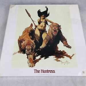 Frank Frazetta The Huntress 551 Pc Jigsaw Puzzle 1977 Square Box #6145 Sealed
