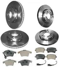 VW TRANSPORTER T5 1.9 2.5 FRONT AND REAR VENTED BRAKE DISCS PAD PADS SET 03-09