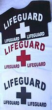 iron on transfers LIFEGUARD pack of 3 for T-SHIRTS etc.swimming fancy dress