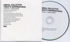 ANIMAL COLLECTIVE Today's Supernatural UK 2-trk promo CD radio edit / album