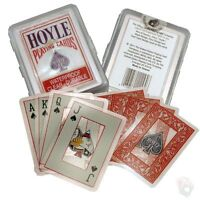 HOYLE clear 100% plastic Waterproof Bicycle Deck of Playing Cards durable pool