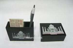 Elegant Look Marble Pen Card Stand Black Accessories Box Best for Corporate Gift