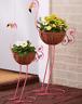 Flamingo Yard Decorations Metal Pot Planter Outdoor Garden Lawn Ornament Statue