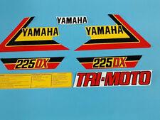 YAMAHA YTM225DX TRI-MOTO 1983 DECAL GRAPHIC SET (#Y15)